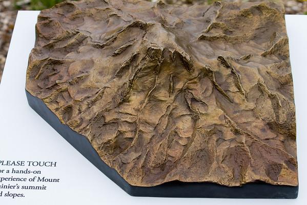Mount Rainier's hands-on topography exhibit
