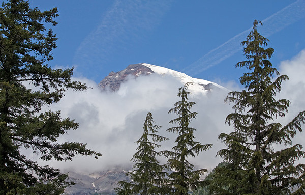 Our first glimpse of Mt. Rainier; 2009