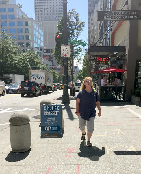 Sharon in the big city