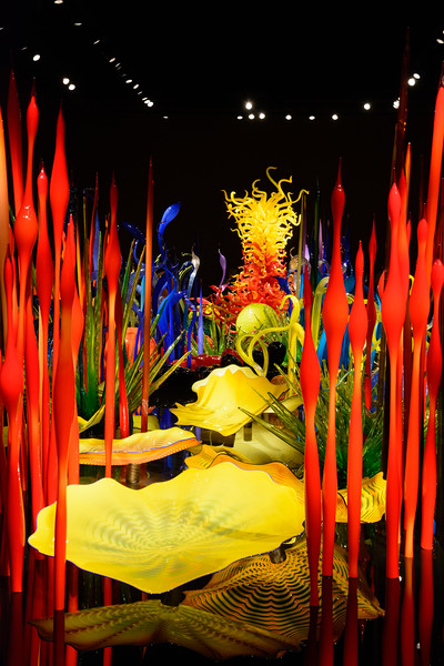 The Chihuly Garden opened in 2012 by the Space Needle.