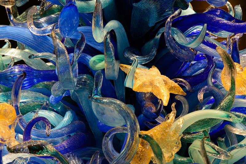 Chihuly's studio is famous for its whimsical glass art.