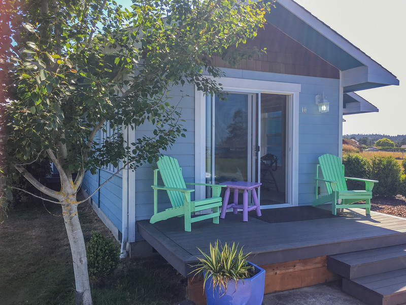 Our cottage, #10, at Jaun de Fuca Cottages in Sequim, WA, on Marine Drive. We loved it.