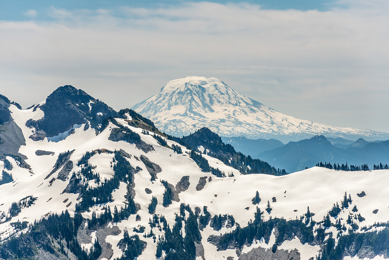 Mt Adams (3743m) from the lower slopes of Mount Rainier