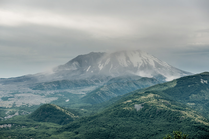 View of Mount Saint Helens from the Spirit Lake Highway