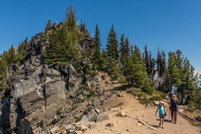 On Sourdough Ridge Trail. Sunrise, Mount Rainier National Park