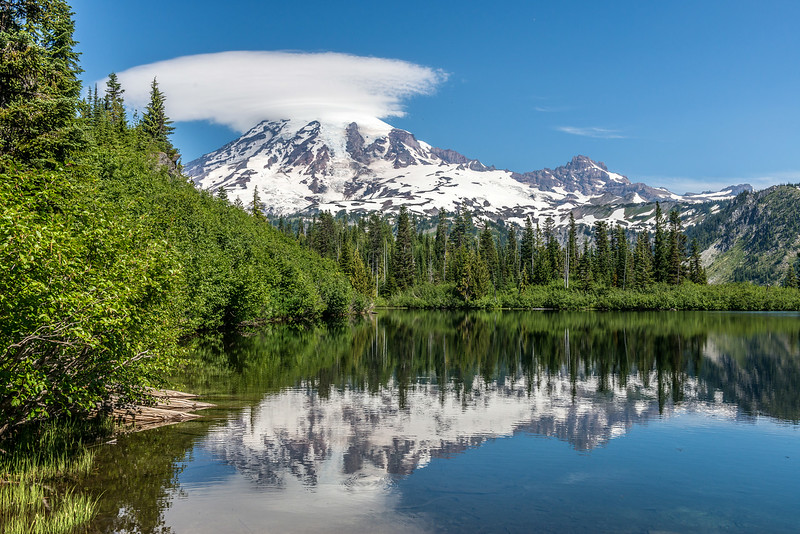 Bench Lake and Mount Rainier