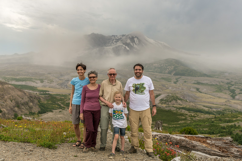In front of Mount Saint Helens. Spirit Lake Highway