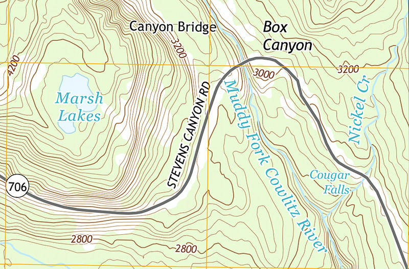 "Trip map. 1 grid square = 1km. Contour interval = 40 feet. Left click on map then select ""Sizes -> Original"" in bottom right corner of screen to view full size."