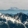 Mount Saint Helens (2550m) from the lower slopes of Mount Rainier