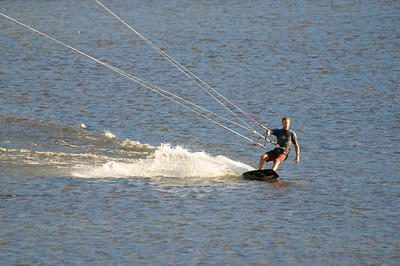 Kite Surfing on the river