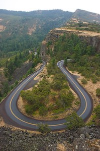 The Rowena Loops. Part of the Historic Columbia River Highway.