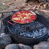 Paella over the fire.  Everyone said it was incredible.