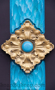 Abstract wood carved and painted diamond