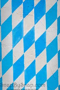Close up of colorful Bavaria Lüftlmalerei wall art
