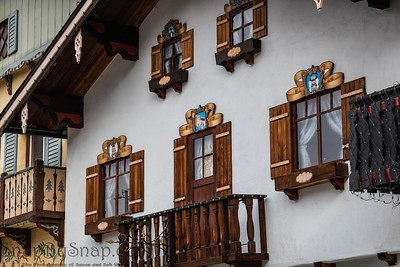 Close up of a Bavarian style home