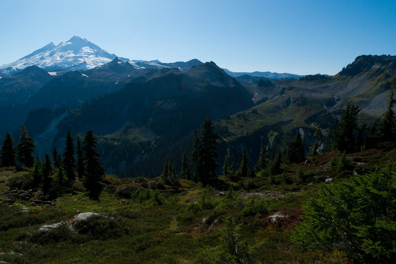 A little hazy, but awesome meadows heading towards the peak from Artist's Point