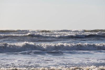 Rough sea on the Pacific Ocean off the coast of Washington