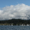West Sound sailboat races, from kayak