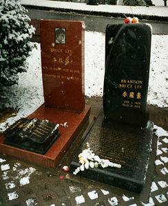 Bruce & Brandon Lee's grave site.
