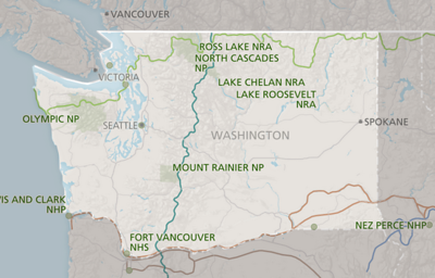 Washington NPS map