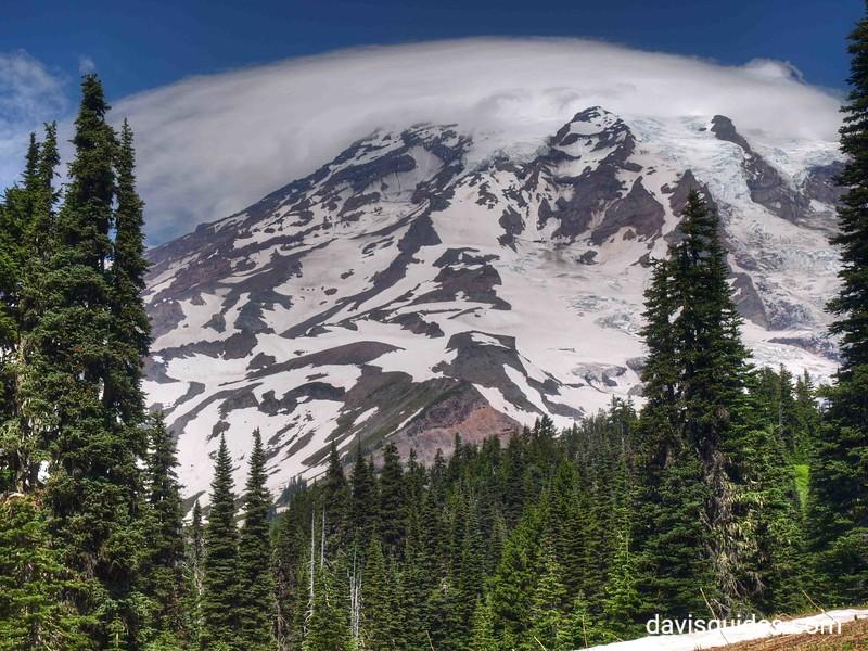 clouds over Mount Rainier