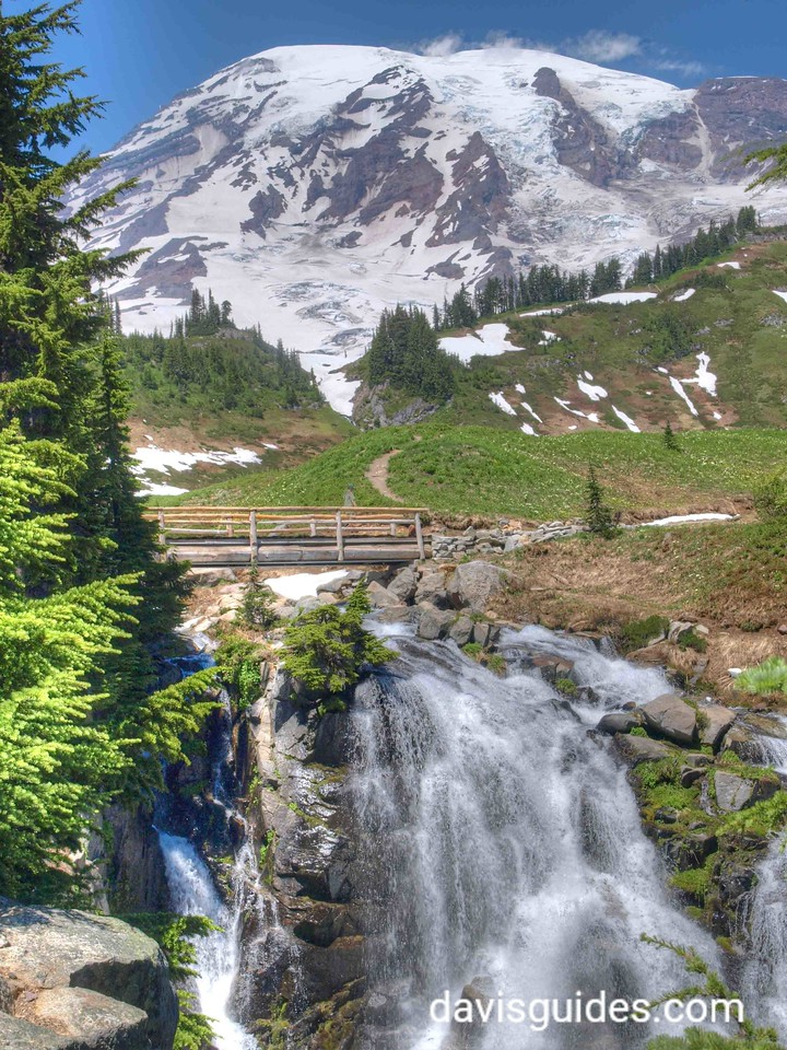 Mount Rainier and Comet Falls