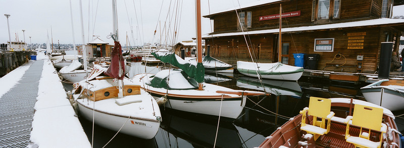 Center for Wooden Boats in snow