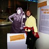 we bumped into julia child while we were wondering around the museum.
