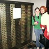 my mom and becky kept lagging behind in the computer section of the smithsonian. i kept trying to get them to come along... but they insisted on looking at every display. this was the eniac. the world first computer.