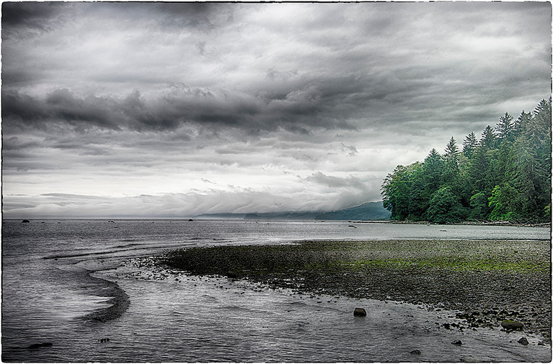 Along the north shore of the Olympic Peninsula