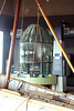 The original first order fresnel lens from Cape Disappointment Lighthouse.   It was moved to the North Head Lighthouse, when replaced by a fourth order lens, and used at several other lighthouses before being placed on display at the Lewis and Clark Interpretive Center, Cape Disappointment, WA   Sept. 2010