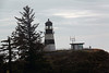 The lighthouse was first lit on October 15, 1856. It stands 53 feet tall with a focal plane 220 feet above sea. Its black horizontal stripe was added later to distinguish it from North Head Lighthouse located just two miles north. <br /> <br /> <br /> Cape Disappointment, WA   Sept. 2010