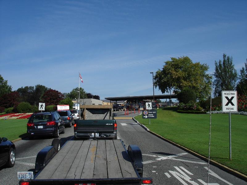 Border crossing into Vancouver, Canada