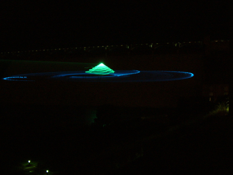 Laser light show on the Grand Coulee Dam