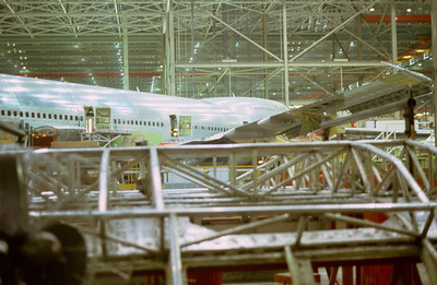 A 747's Assembly Nearing Completion