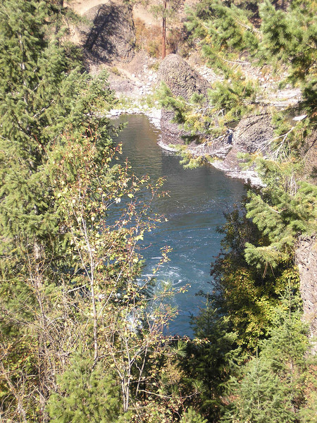 This is the Spokane River below the Bowl and Pitcher.