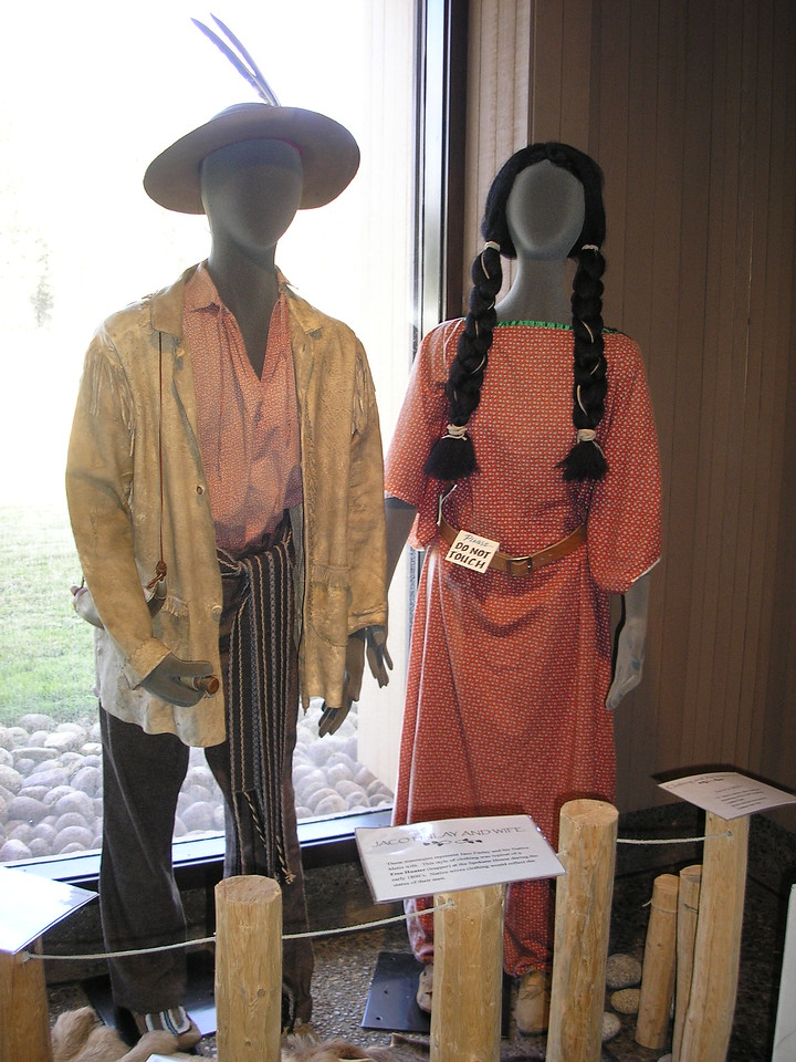 This display is of the attire that worn when the site was an active fur trading site.