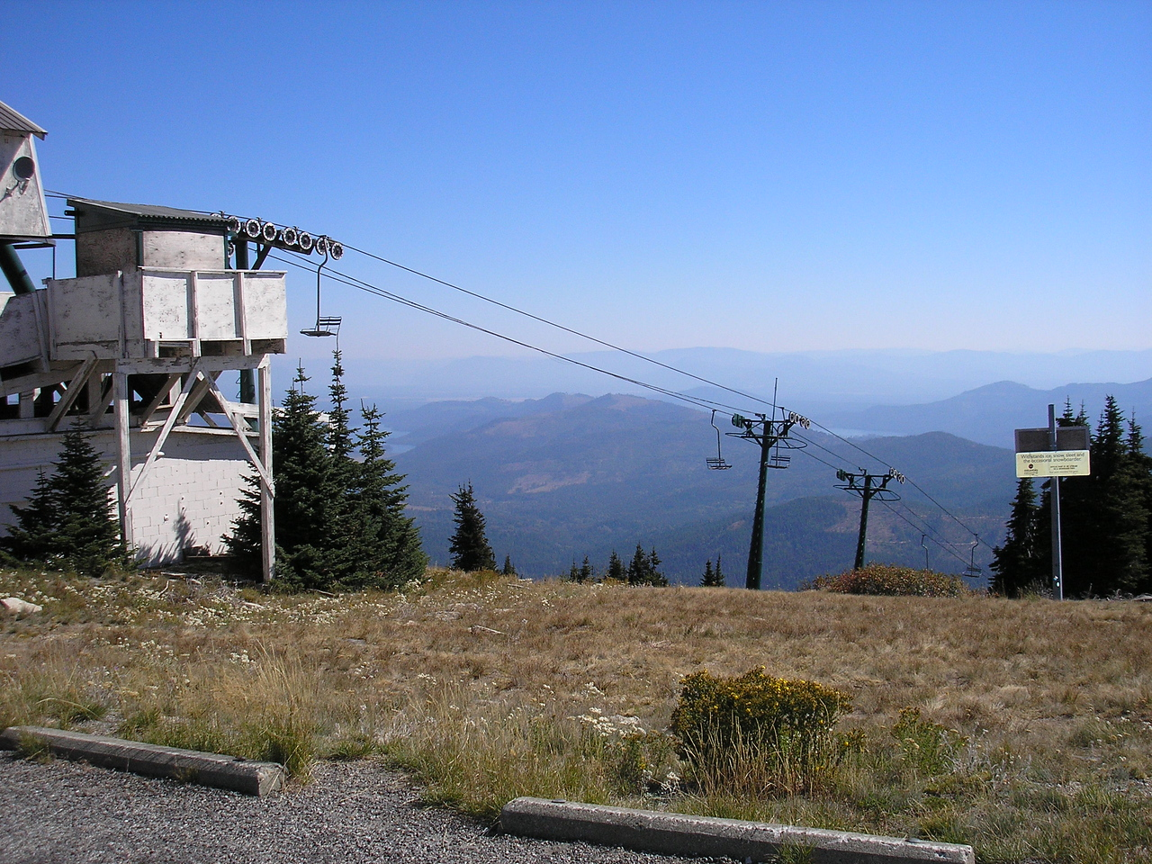 We went to the highest place near Spokane, it is called MT. Spokane.  They have a ski lift at the top.