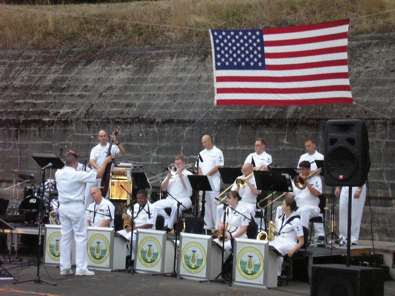 We has several concerts in the park, but the best was the North Puget Sound Navy Stage Band.