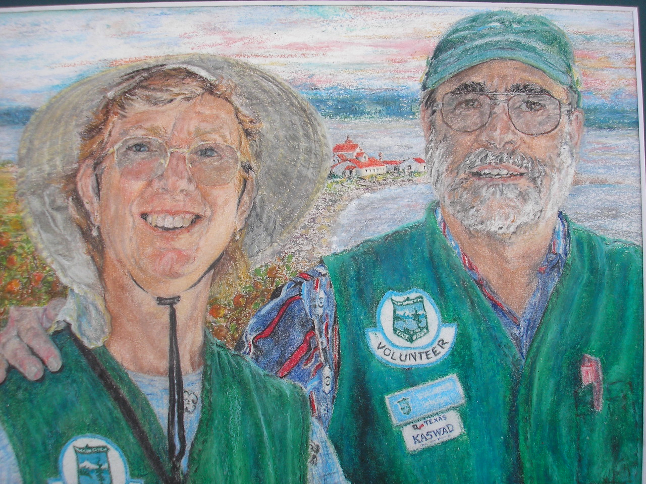 This Oil Pastel portrait was given to us by Shelah Harwood.  She is one of the parks seasonal fee booth personnel.  We love it.