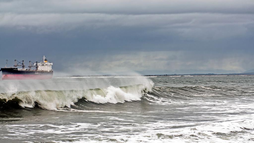 Stormy Seas in Westport Washington