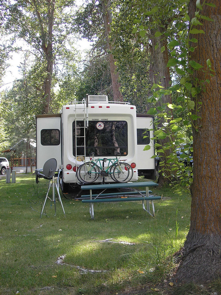Here is our rig along the Methow River.
