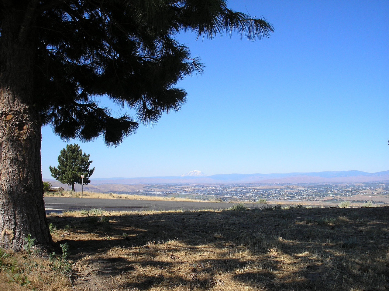 This is the Yakima vally with Mount Adams in the distance