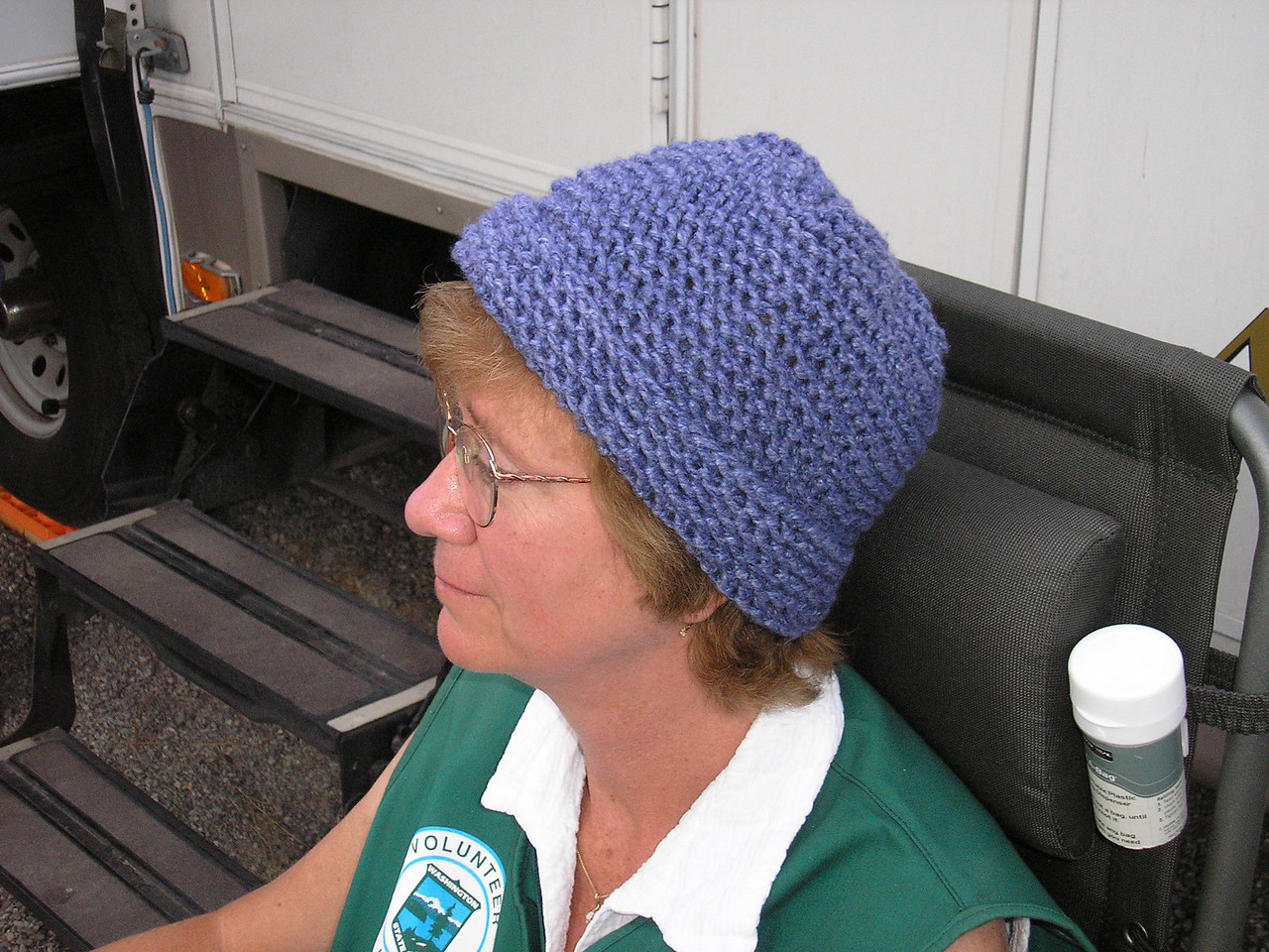 This is a better view of the Knit Cap that I made, COOL huh!!