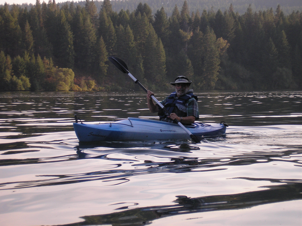 Here is one of the park kayaks, we go out on Long Lake and paddle around.