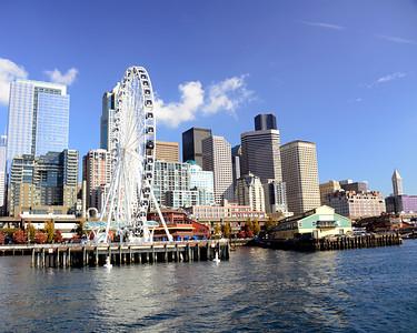 Downtown Seattle skyline from Elliott Bay