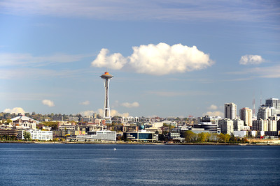 Downtown Seattle skyline from Elliott Bay