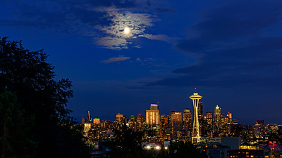 Seattle Skyline at bluehour from Kerry Park