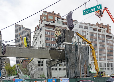 Demolition of the Viaduct in Seattle on Spring Street