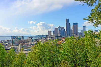 Spring Seattle Skyline